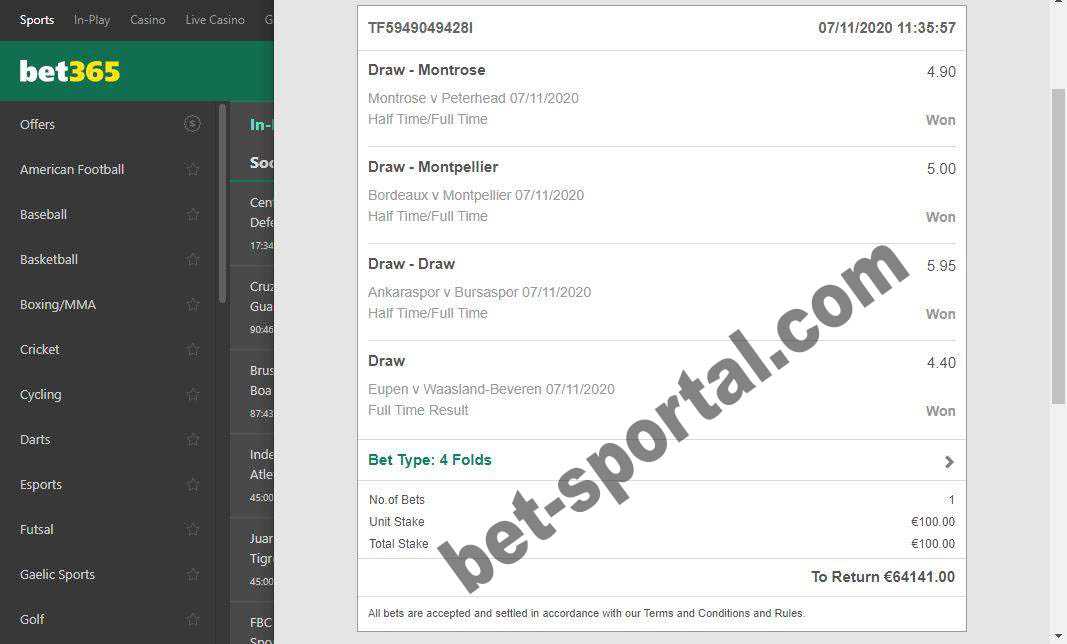 real bets sportal tips 100%