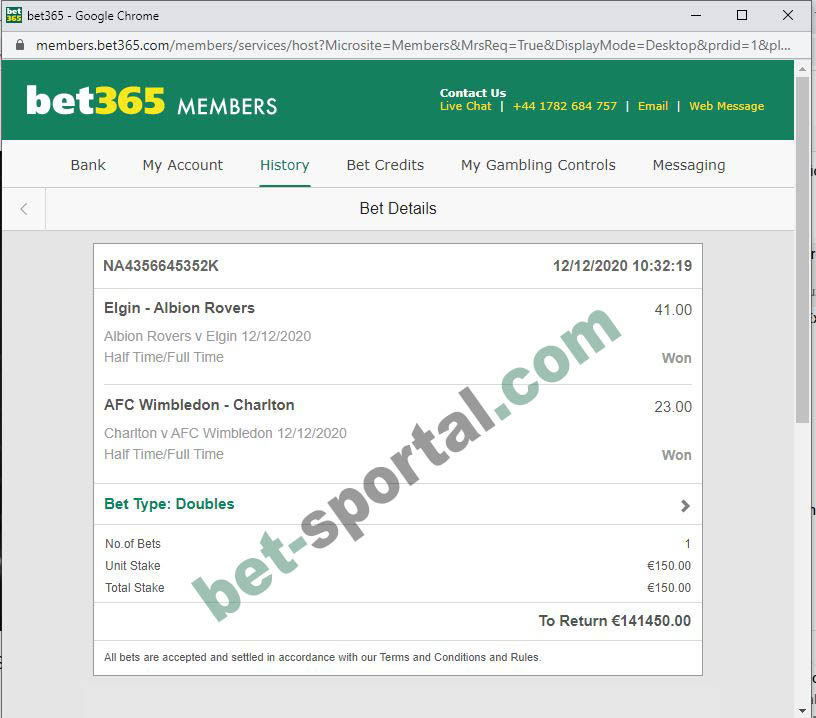 BET SPORTAL HT FT