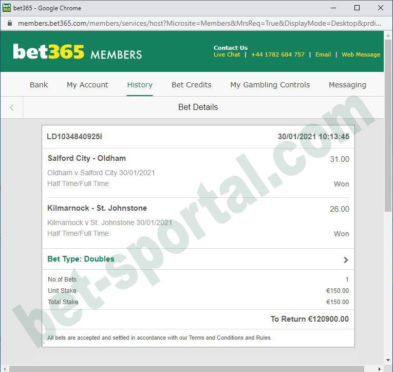 bet sportal ht ft 100% real tips