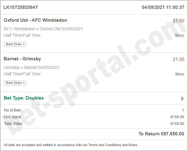 bet soccer fixed matches ht ft 100%